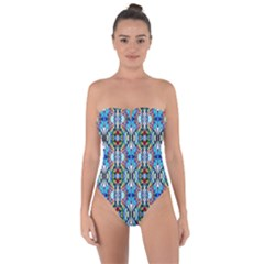 Artwork By Patrick Colorful 34 Tie Back One Piece Swimsuit