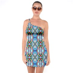Artwork By Patrick Colorful 34 One Soulder Bodycon Dress