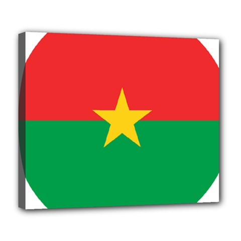 Roundel Of Burkina Faso Air Force Deluxe Canvas 24  X 20
