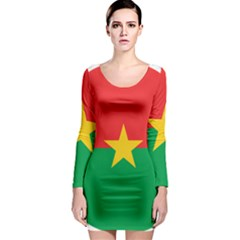 Roundel Of Burkina Faso Air Force Long Sleeve Bodycon Dress
