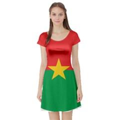 Roundel Of Burkina Faso Air Force Short Sleeve Skater Dress