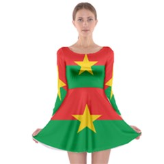 Roundel Of Burkina Faso Air Force Long Sleeve Skater Dress