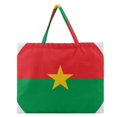 Roundel Of Burkina Faso Air Force Zipper Large Tote Bag by abbeyz71