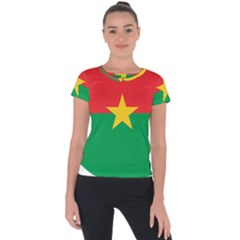 Roundel Of Burkina Faso Air Force Short Sleeve Sports Top