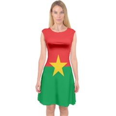Roundel Of Burkina Faso Air Force Capsleeve Midi Dress