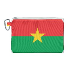 Roundel Of Burkina Faso Air Force Canvas Cosmetic Bag (large)