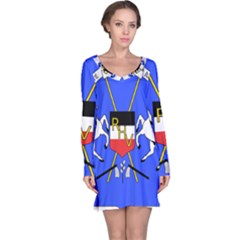 Coat Of Arms Of Upper Volta Long Sleeve Nightdress