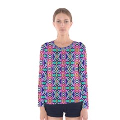 Artwork By Patrick Colorful 34 1 Women s Long Sleeve Tee