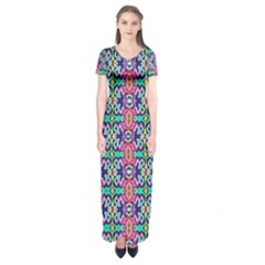 Artwork By Patrick Colorful 34 1 Short Sleeve Maxi Dress