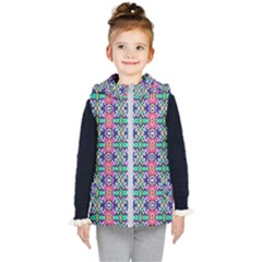Artwork By Patrick Colorful 34 1 Kid s Hooded Puffer Vest