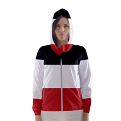 Flag Of Upper Volta Hooded Wind Breaker (women)