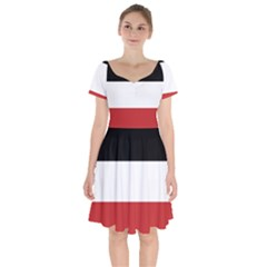 Flag Of Upper Volta Short Sleeve Bardot Dress