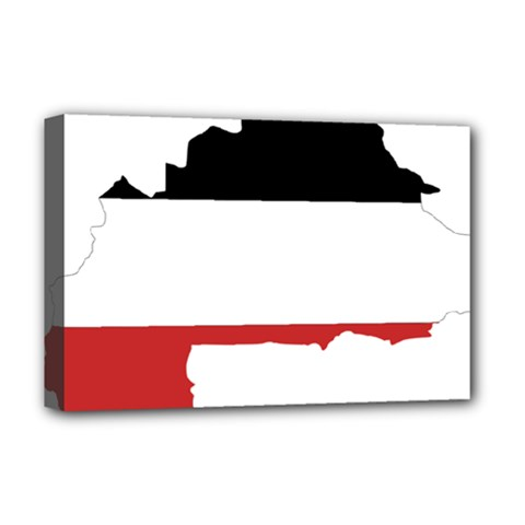 Flag Map Of Upper Volta Deluxe Canvas 18  X 12