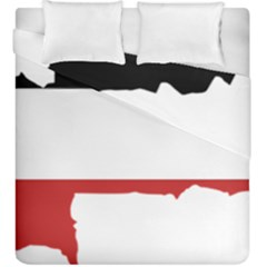Flag Map Of Upper Volta Duvet Cover Double Side (king Size)