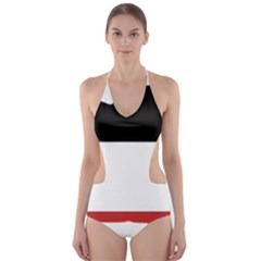 Flag Map Of Upper Volta Cut Out One Piece Swimsuit