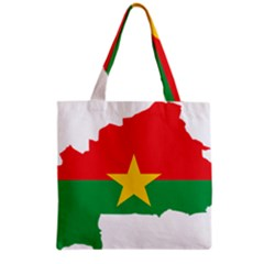 Burkina Faso Flag Map  Grocery Tote Bag by abbeyz71
