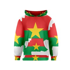 Burkina Faso Flag Map  Kids  Pullover Hoodie
