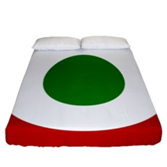 Roundel Of Burundi Air Force  Fitted Sheet (queen Size)