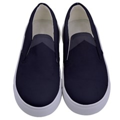 Gray Color Kids  Canvas Slip Ons