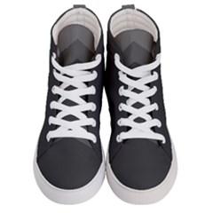 Gray Color Men s Hi Top Skate Sneakers