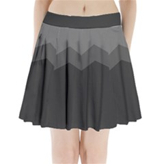 Gray Color Pleated Mini Skirt