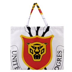 Coat Of Arms Of Burundi Zipper Large Tote Bag