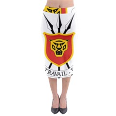 Coat Of Arms Of Burundi Midi Pencil Skirt by abbeyz71