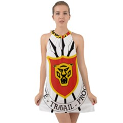 Coat Of Arms Of Burundi Halter Tie Back Chiffon Dress
