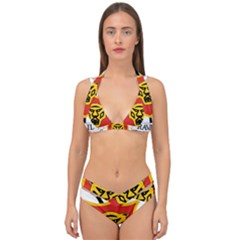 Coat Of Arms Of Burundi Double Strap Halter Bikini Set