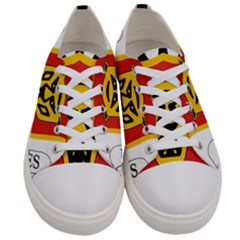 Coat Of Arms Of Burundi Women s Low Top Canvas Sneakers