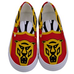 Coat Of Arms Of Burundi Kids  Canvas Slip Ons