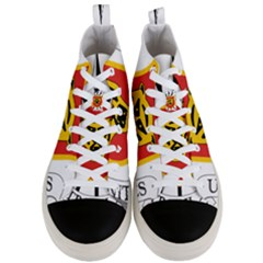 Coat Of Arms Of Burundi Men s Mid Top Canvas Sneakers