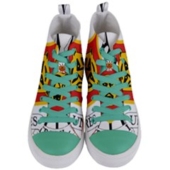 Coat Of Arms Of Burundi Women s Mid Top Canvas Sneakers