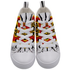 Coat Of Arms Of Burundi Kid s Mid Top Canvas Sneakers