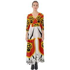 Coat Of Arms Of Burundi Button Up Boho Maxi Dress