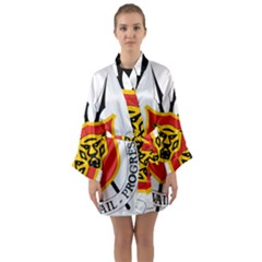 Coat Of Arms Of Burundi Long Sleeve Kimono Robe