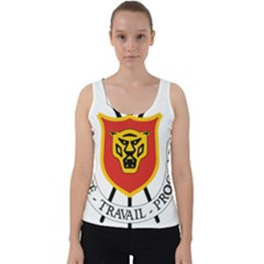 Coat Of Arms Of Burundi Velvet Tank Top