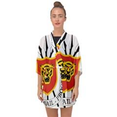 Coat Of Arms Of Burundi Half Sleeve Chiffon Kimono