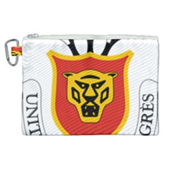 Coat Of Arms Of Burundi Canvas Cosmetic Bag (xl)