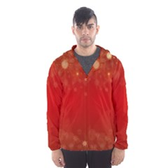 Background Abstract Christmas Hooded Wind Breaker (men)