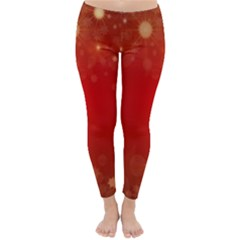 Background Abstract Christmas Classic Winter Leggings