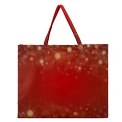 Background Abstract Christmas Zipper Large Tote Bag