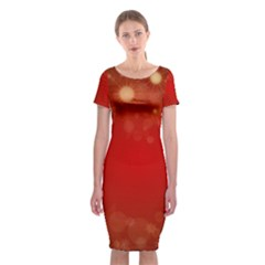 Background Abstract Christmas Classic Short Sleeve Midi Dress