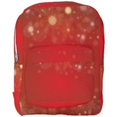 Background Abstract Christmas Full Print Backpack