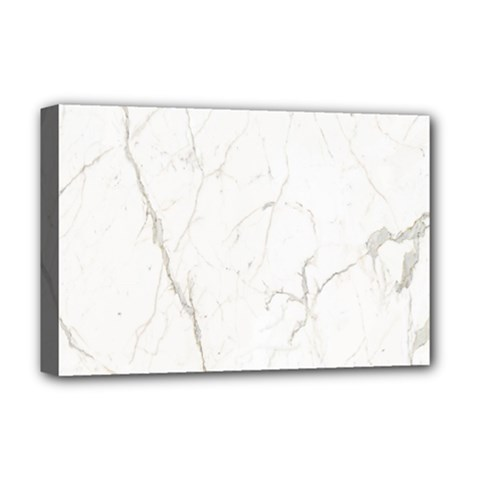 White Marble Tiles Rock Stone Statues Deluxe Canvas 18  X 12   by Simbadda