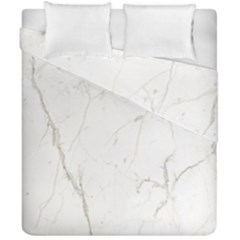 White Marble Tiles Rock Stone Statues Duvet Cover Double Side (california King Size) by Simbadda