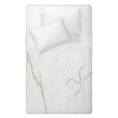 White Marble Tiles Rock Stone Statues Duvet Cover (single Size)