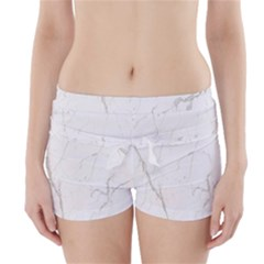 White Marble Tiles Rock Stone Statues Boyleg Bikini Wrap Bottoms