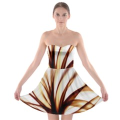 Digital Tree Fractal Digital Art Strapless Bra Top Dress