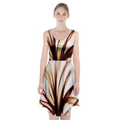 Digital Tree Fractal Digital Art Racerback Midi Dress